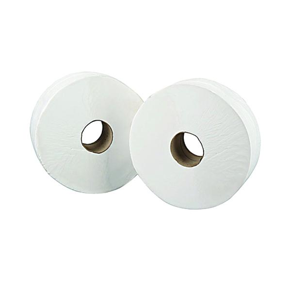 Mini Jumbo White 2-Ply Toilet Roll 150 Metres (Pack of 12) J26150