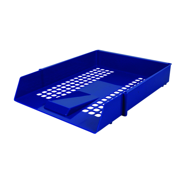 Contract Blue Letter Tray (Plastic construction, mesh design) WX10052A