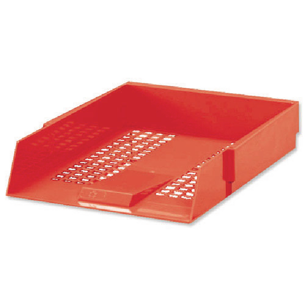Red A4 Contract Letter Tray (Plastic Construction and Mesh Design) WX10055A