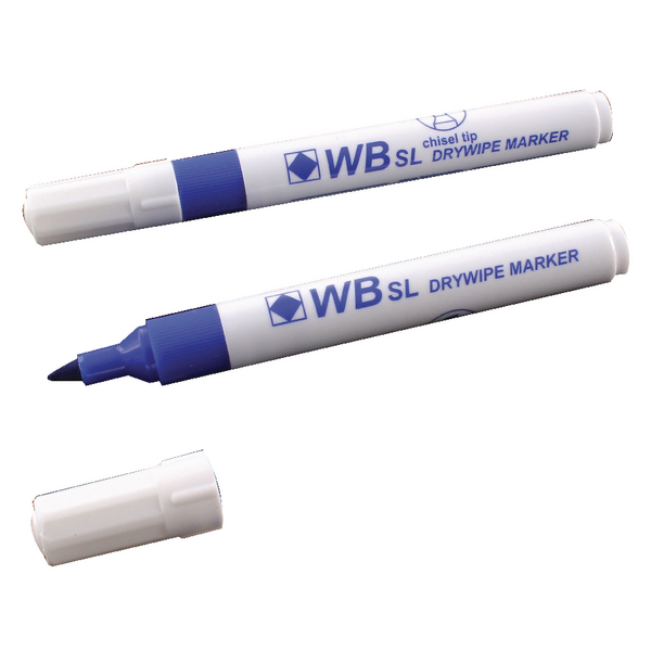 Blue Whiteboard Markers Chisel Tip (Pack of 10) WX26036
