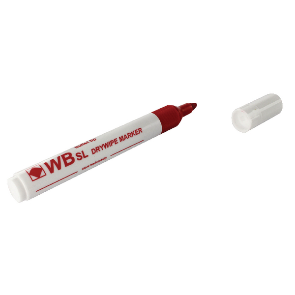 Red Whiteboard Markers Chisel Tip (Pack of 10) WX26037