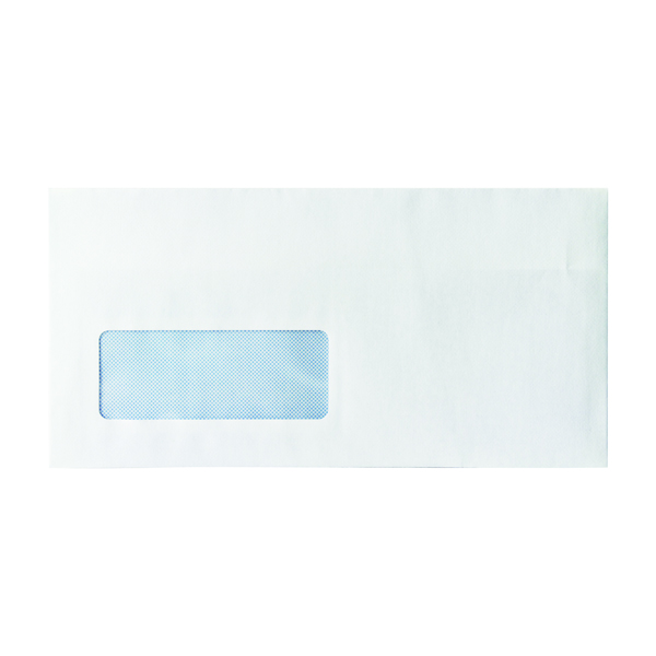 Envelope DL Window 80gsm Self Seal White (Pack of 1000) WX3455