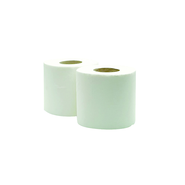 36 x White 320 Sheet Toilet Roll (100% recycled material, soft and absorbent) WX43093