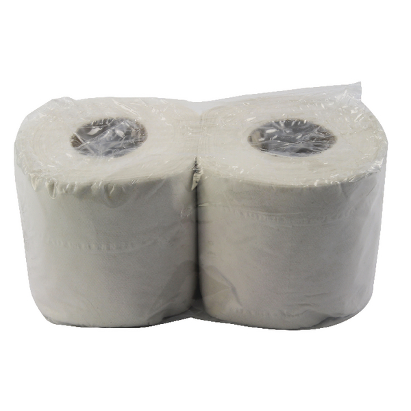 48 x White 200 Sheet Toilet Roll (100% recycled material, soft and absorbent) WX43541
