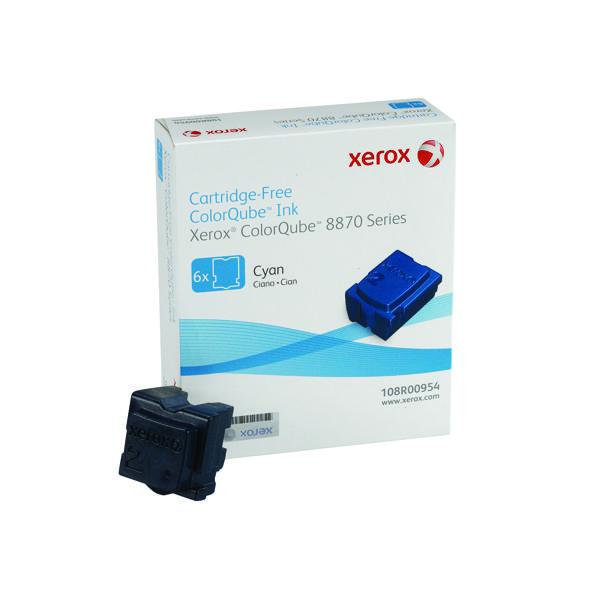 Xerox ColorQube 8870 Cyan Ink Stick (Pack of 6) 108R00955 108R00954